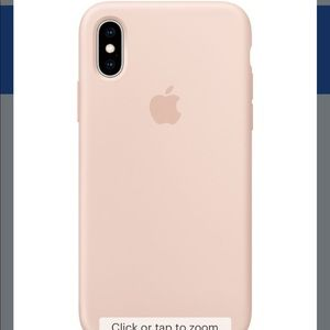 Apple - iPhone XS Silicone Case - Pink Sand